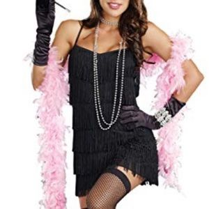 Dreamgirl Black Flapper Dress Costume Size Small